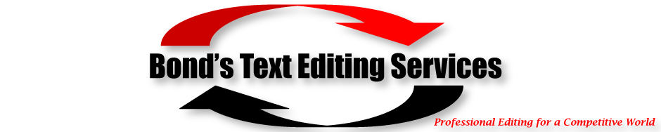 Bond's Text Editing Services